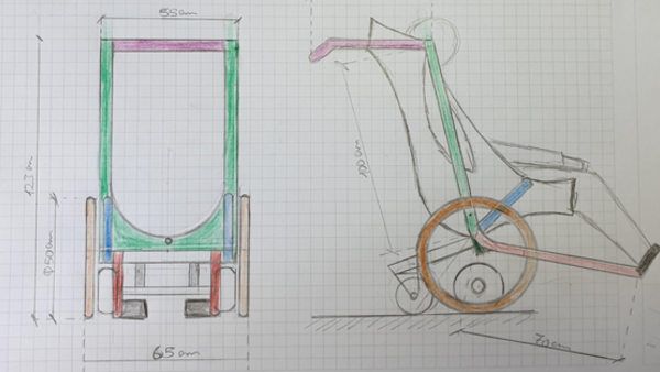 Drawing with means of transport concept