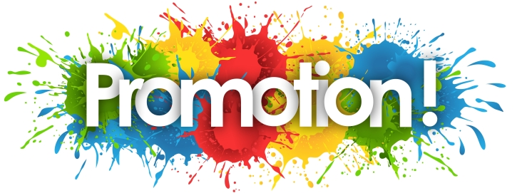 The word promotion on a coloured background (source: ©nali - stock.adobe.com)